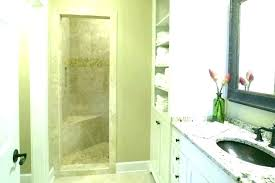 walk in shower with half wall glass bathroom shelves pony best h a clever half wall
