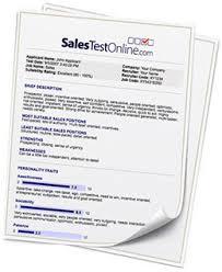 Salestestonline.com - Sales Aptitude Test/sample Reports