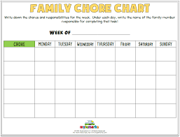 Chore List For Families Family Chore Chart