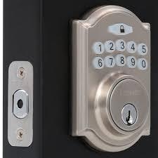 front door locks home depotDefiant Single Cylinder Satin Nickel Castle Electronic Keypad