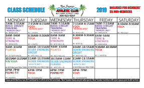 Class Schedule New Smyrna Athletic Club