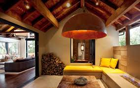 the mixed textures and the super cool customization awesome pendant lighting sloped ceiling