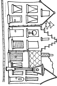Houses And Homes Color Page Coloring Pages For Kids Family