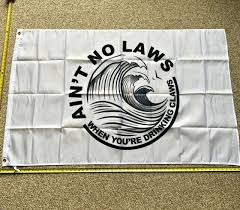 White Claw <b>FREE SHIPPING</b> Flag White No Law <b>3x5</b>' <b>Foot</b> Banner ...