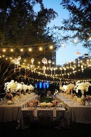 outdoor wedding reception decorating
