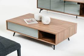 aiden mid century walnut coffee table  coffee table mid century