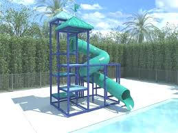 above ground pool on concrete pool slide swimming pool slides best above ground pool slide above ground pool