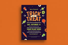 Editable Flyer Template Halloween Trick Or Treat Event Flyer A Fully Editable Flyer