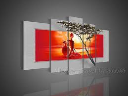 canvas african american canvas wall art unbelievable african art modern wall decor landscape oil painting canvas
