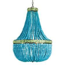 blue beaded chandelier