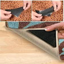 best rug gripper 4 rug carpet grippers corners anti skid mat washable tape rug gripper pad 8 10