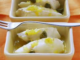 Lemon Cod with Capers recipe