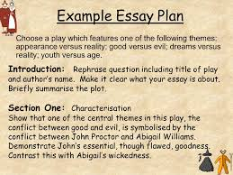 the crucible arthur miller ppt example essay plan back