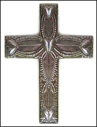 large decorative metal cross wall hanging made in haiti 18 1 2