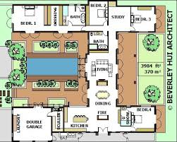 House plans   pool  House plans and Courtyards on Pinterest