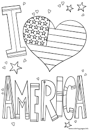 This coloring page was posted on wednesday, june 10. I Love America 4th July Coloring Pages Printable