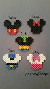 Perler Beads Mickey Mouse Designs Mickey Mouse Inspired Perler Bead Keychains By