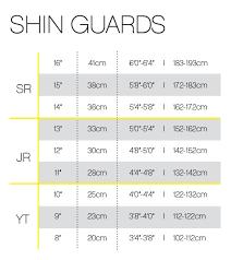 Ccm Shin Guard Size Chart Ccm Jetspeed Ft370 Jr Hockey Shin Guards