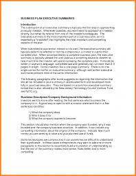 7 Business Plan Executive Summary Example Farmer Resume Of A What