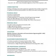 Unusual Best Resume Format For Freshers Engineers Pdf Pictures