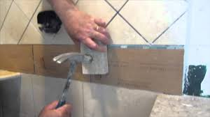 complete tile shower install part 7 installing glass tile border you