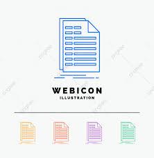 Excel Temp Service Bill Excel File Invoice Statement 5 Color Line Web Icon Temp