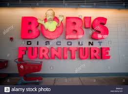 signage for the bobs discount furniture store in the east river mall BNMKJ2