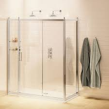 burlington traditional sliding door shower enclosure with tray 1200mm x 900mm 8mm glass