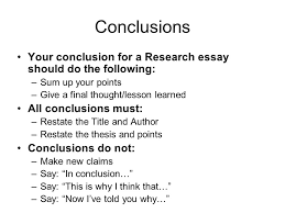 fast food essay ppt video online 16 conclusions your conclusion for a research essay