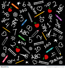 School Chalkboard Background Back To School Chalkboard Background Illustration 14703031 Megapixl