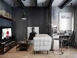 modern office design concept featuring home office. Home Office Spot. Design Ideas. Cool Rustic-Industrial Apartment Approach. Nice-looking Rustic- Modern Concept Featuring N
