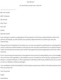 Pensions Administrator Cover Letter Example For Jobs Learnist Org