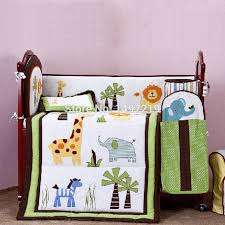 animal patch crib baby bedding set 4pcs with head per