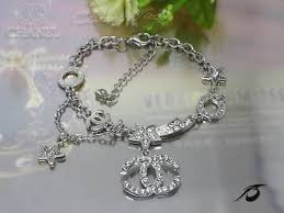replica chanel designer jewelry chanel coco flower with charm silver bracelets pendants rjb chbr00055 on replicajuicybracelet