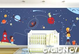 outer space wall decals space wall decals nursery boy space wall stickers with aliens and astronauts outer space wall decals