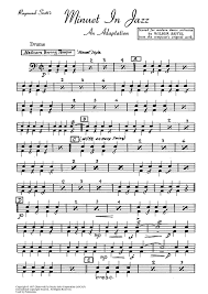 drum set sheet music minuet in jazz drum set sheet music for piano and more