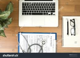 office desk table tops. Doctors Desk Table Top View Modern Stock Photo (Royalty Free) 392020327 - Shutterstock Office Tops