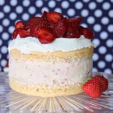 strawberry shortcake dessert with ice cream.  Shortcake We Loved Our Strawberry Shortcake Ice Cream So Much That We Couldnu0027t Resist  Turning Some Of It Into An Cake Homemade French Vanilla  In Strawberry Shortcake Dessert With Ice Cream