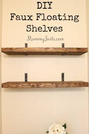 How To Hang Floating Shelves DIY Faux Floating Shelves Mommy Suite 1