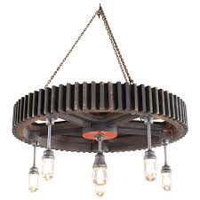chandelier vintage pattern wood glass light hanging pendant lamp for