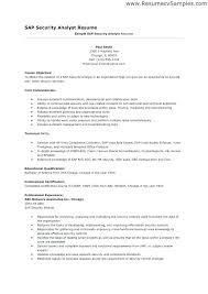 Resume Templates Entry Level New Security Resume Template Security Resume Security Analyst Resume