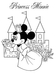 Princess Minnie Coloring Page H M Coloring Pages