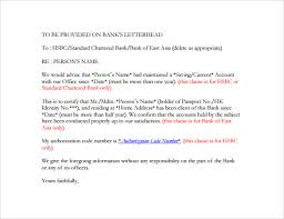 Letter Of References Examples Bank Reference Letter 5 Free Samples Format Examples