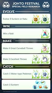 Johto Festival Pokemon Pokemon Go Chart Pokemon Go