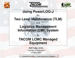 Ppt Using Powerlog J For Two Level Maintenance Tlm And