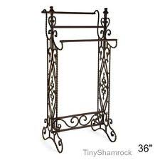 Standing Quilt Rack | eBay & Wrought Iron Quilt Rack Metal Narrow Vintage Look Stand Blanket Storage  Display Adamdwight.com