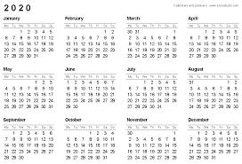 Printable Attendance Calendar 2020 Printable 2020 Wallet Calendar Bootscootinmusic Com