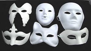 Plain White Masks To Decorate WHITE MASK PLAIN MASKS FANCY DRESS MASQUERADE PARTY Halloween 30