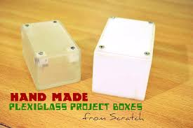 picture of handmade plexiglass project boxes from scratch