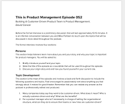 how to produce an industry leading podcast nis frome back and forth interview very difficult so we decided to instead send guests an outline of points to address so that they can come prepared their